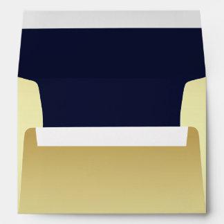 Sobres pálidos elegantes del personalizado del oro