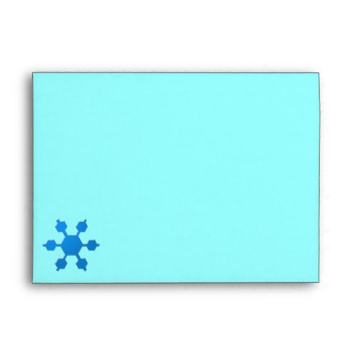 Sobres personalizados copo de nieve azul