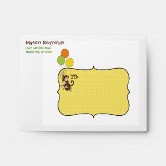 Sobres personalizados mono