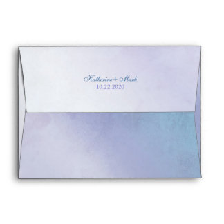 Sobres púrpuras azules simples de la invitación A7