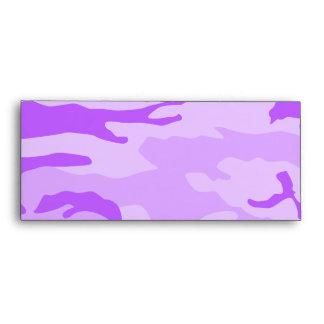 Sobres púrpuras del camuflaje
