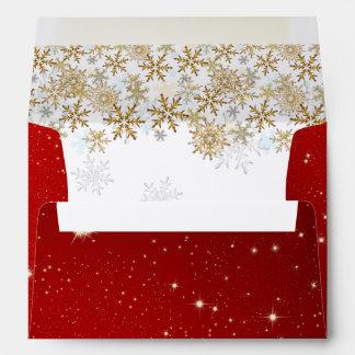 Sobres rojos del navidad A7 de las estrellas