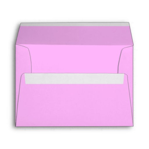 Sobres rosados de encargo de la tarjeta de la invi