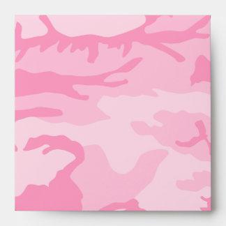 Sobres rosados del camuflaje