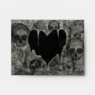 Sobres tristes góticos del corazón