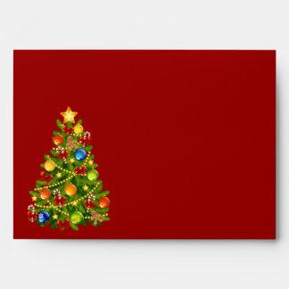 Sobres verdes del árbol de navidad