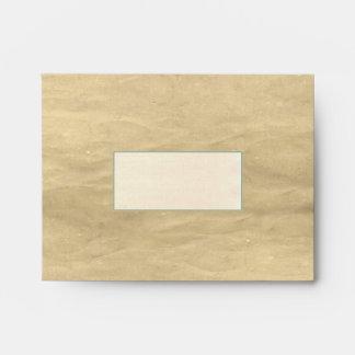 sobres viejos del fondo del papel marrón
