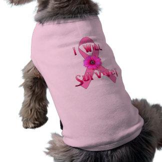 Sobreviva al cáncer de pecho playera sin mangas para perro
