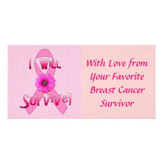 Sobreviva al cáncer de pecho tarjetas fotograficas