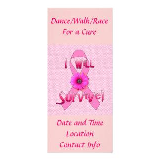 Sobreviva al cáncer de pecho tarjeta publicitaria personalizada
