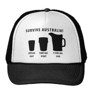sobreviva Australia - cerveza Gorras De Camionero