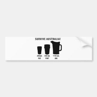 sobreviva Australia - cerveza Pegatina Para Auto