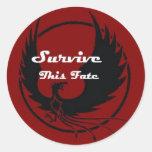 Sobreviva este sino pegatina redonda