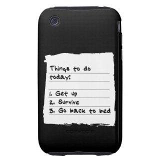 Sobreviva hoy el caso iPhone 3 tough fundas