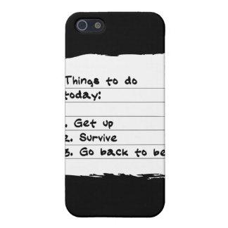 Sobreviva hoy el caso iPhone 5 protectores