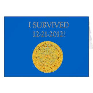 """""""Sobreviví 12-21-2012 """" Tarjeta De Felicitación"""