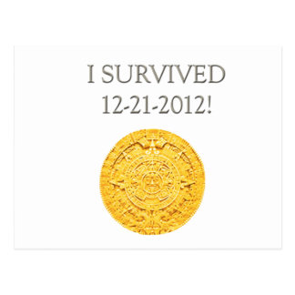 """Sobreviví 12-21-2012 "" Tarjeta Postal"