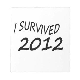 Sobreviví 2012 blocs de papel