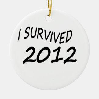 Sobreviví 2012 ornaments para arbol de navidad