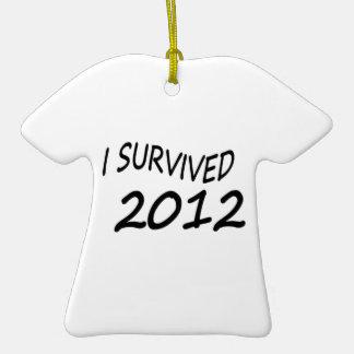 Sobreviví 2012 ornamentos de navidad