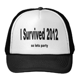 """""""Sobreviví 2012"""" gorras. """" Gorros Bordados"""