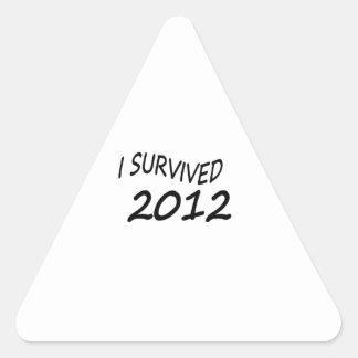 Sobreviví 2012 pegatina triangular