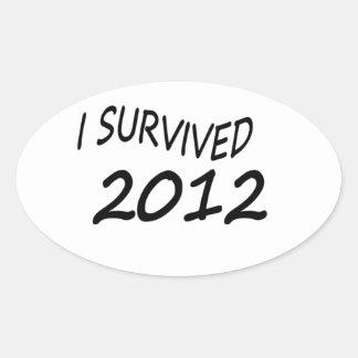 Sobreviví 2012 pegatina ovalada