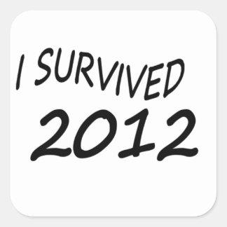 Sobreviví 2012 pegatina cuadrada