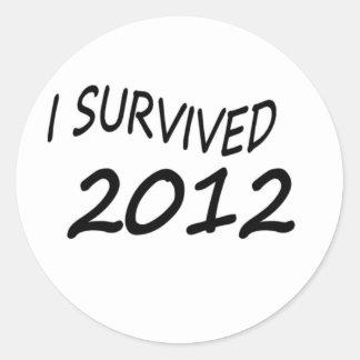 Sobreviví 2012 etiquetas redondas