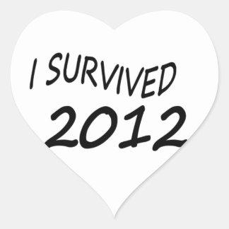 Sobreviví 2012 pegatina en forma de corazón