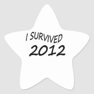 Sobreviví 2012 pegatina en forma de estrella