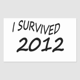 Sobreviví 2012 pegatina rectangular