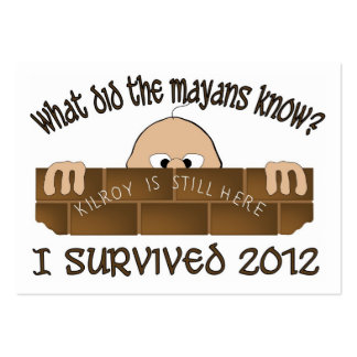 """Sobreviví 2012"" tarjetas de visita"