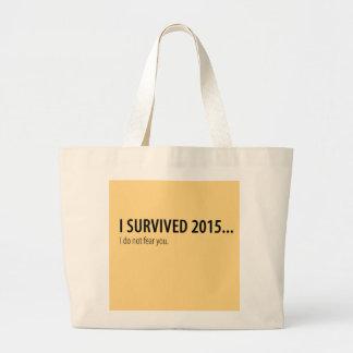 Sobreviví 2015 bolsa tela grande
