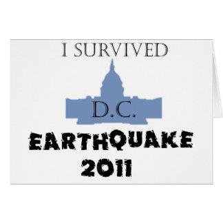 Sobreviví a D.C. Earthquake 2011 Tarjeta De Felicitación