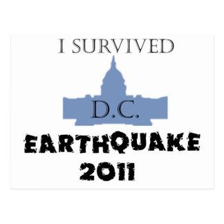 Sobreviví a D.C. Earthquake 2011 Tarjetas Postales