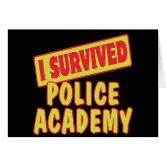 SOBREVIVÍ A LA ACADEMIA DE POLICÍA TARJETA