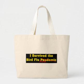 Sobreviví a la broma del pandémico de la gripe avi bolsas lienzo