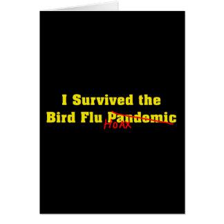 Sobreviví a la broma del pandémico de la gripe avi tarjetón