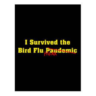 Sobreviví a la broma del pandémico de la gripe avi tarjeta postal