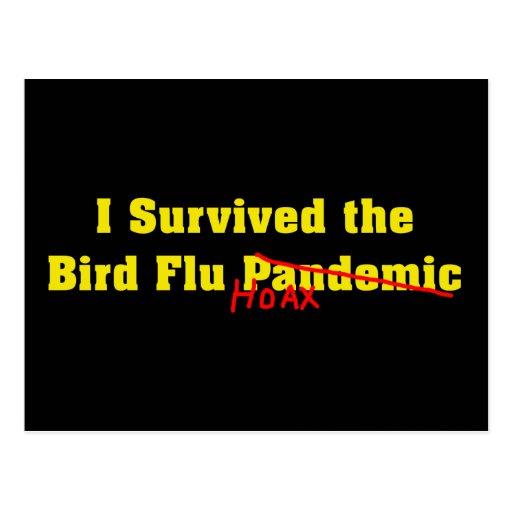 Sobreviví a la broma del pandémico de la gripe avi tarjetas postales