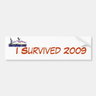 Sobreviví a la pegatina para el parachoques 2009 pegatina para auto