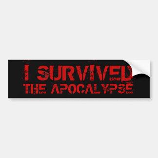 Sobreviví a la pegatina para el parachoques de la  pegatina para auto
