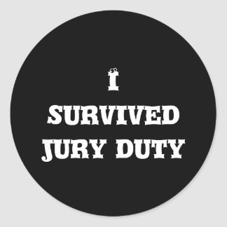 Sobreviví a los pegatinas del labor del jurado pegatina redonda