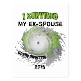 Sobreviví a mi Ex-Cónyuge (personalizable) Tarjetas Postales