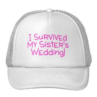 Sobreviví a mis hermanas que casaban rosa gorras de camionero