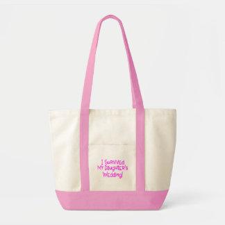 Sobreviví a mis hijas que casaban rosa bolsa tela impulso
