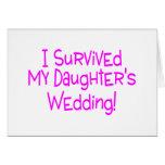 Sobreviví a mis hijas que casaban rosa tarjetón