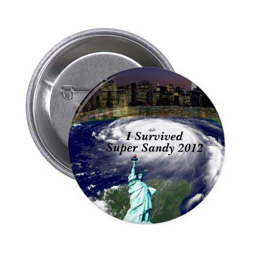 Sobreviví a Sandy 2012-Storm_Button Pin Redondo De 2 Pulgadas