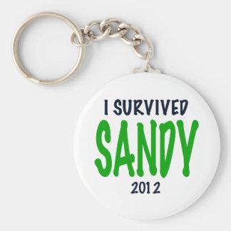 SOBREVIVÍ A SANDY 2012 verde regalos de Sandy de Llaveros Personalizados
